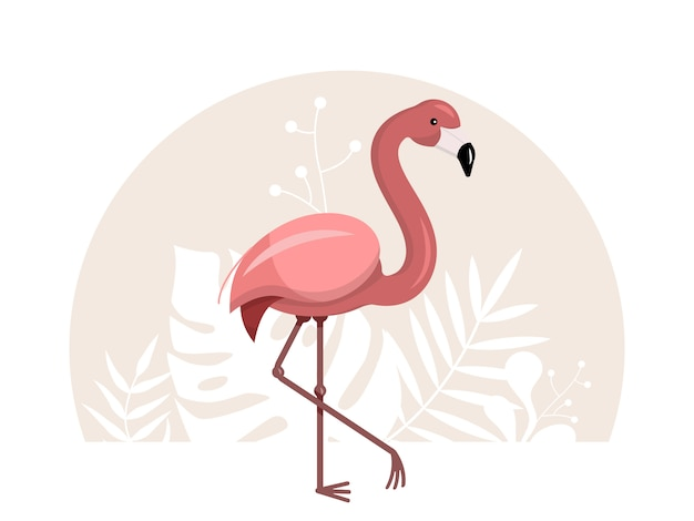 Roze flamingo illustratie
