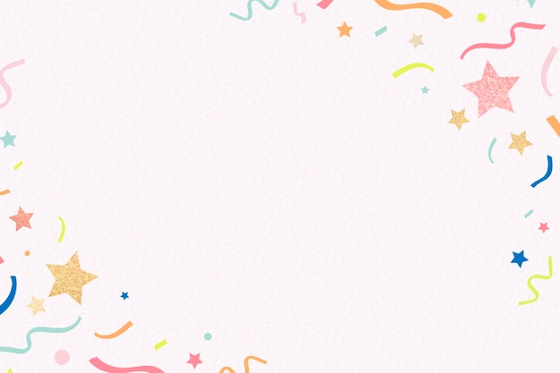 Roze frameachtergrond, glanzende linten, kleurrijke en feestelijke ontwerpvector