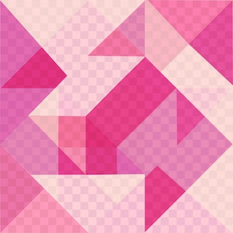 Roze geometrische achtergrond