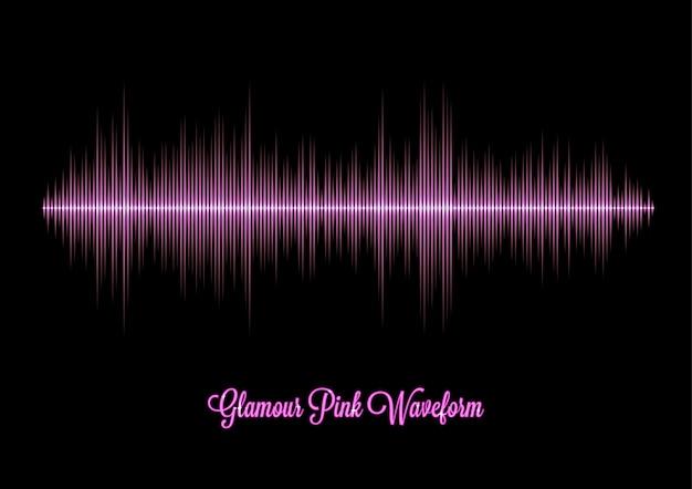 Roze glamour muziek golfvorm