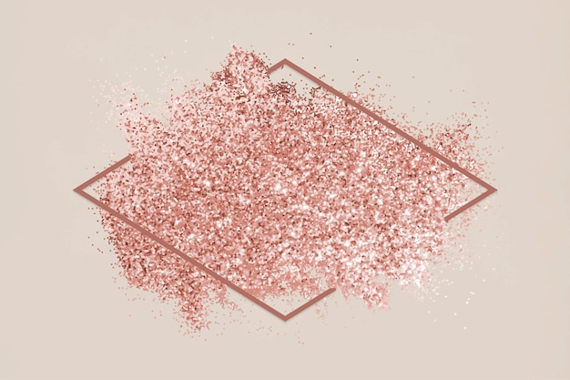 Roze glitter vlek