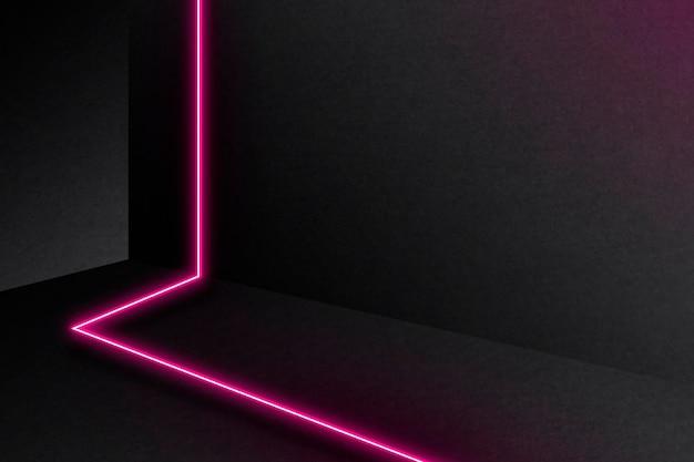 Roze gloeiende lijnen op donkere achtergrond Gratis Vector