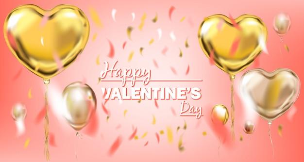 Roze gouden folie hartvorm ballon