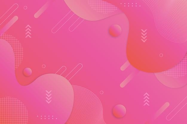 Roze gradiënt abstracte draadframe achtergrond