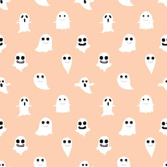 Roze halloween naadloos patroon