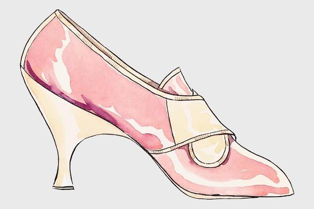 Roze hoge hak vector, remix van artwork door lillian causey