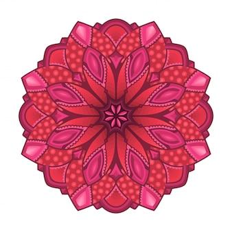 Roze illustraties met geïsoleerde abstract patroon