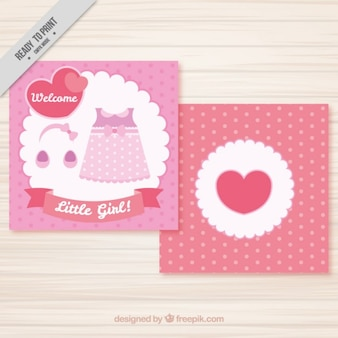 Roze jurk baby card