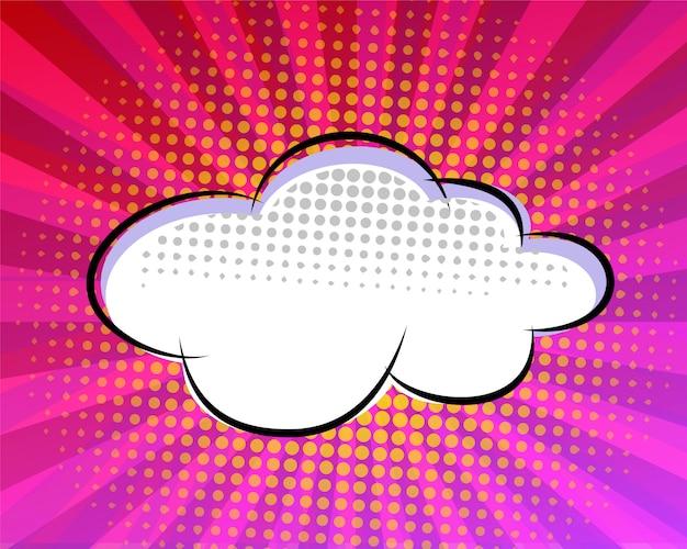 Roze komische toespraak bubble ontwerp