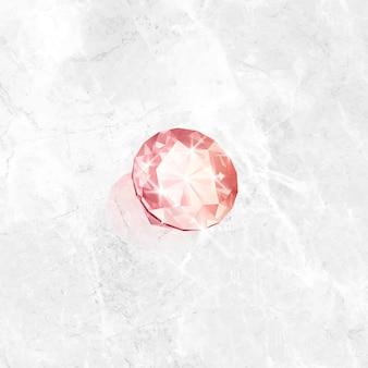 Roze kristal edelsteen ontwerp vector