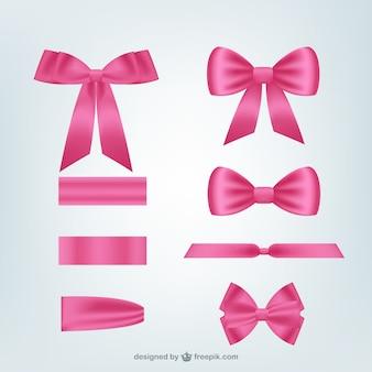Roze linten pakken