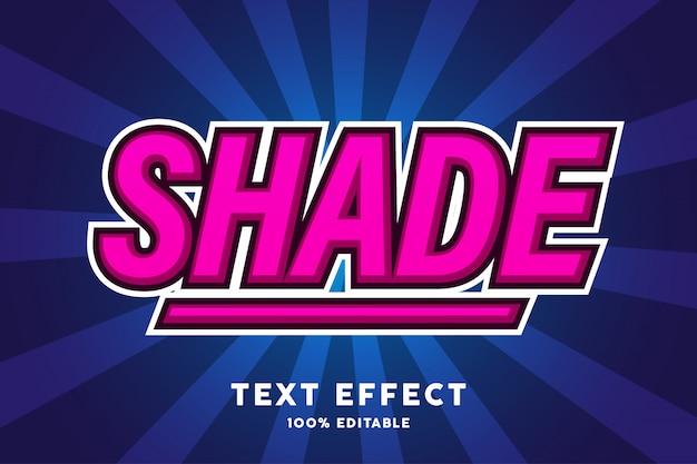 Roze met klassiek blauw teksteffect