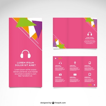 Roze mock-up vector set