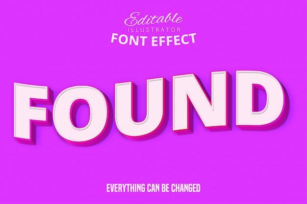 Roze moderne stijl teksteffect