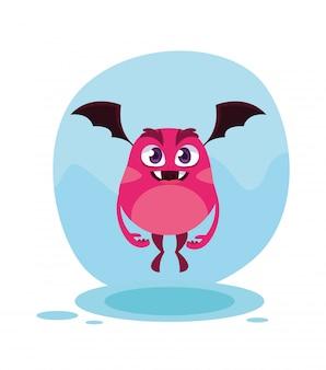 Roze monster cartoon