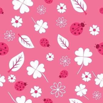 Roze natuur patroon ontwerp
