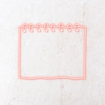 Roze neon notitie papieren sjabloon