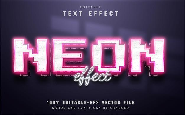 Roze neon teksteffect bewerkbaar