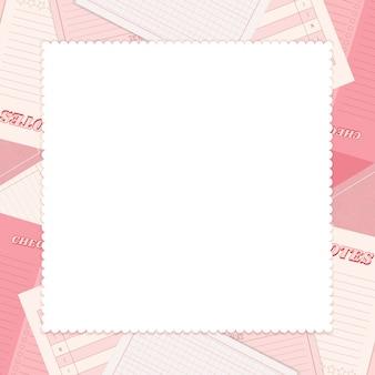 Roze notitieblok planner set Gratis Vector