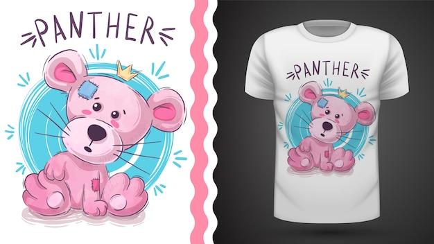 Roze panteridee voor print t-shirt