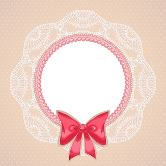 Roze parels in plat design