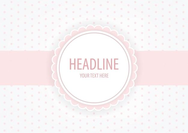 Roze pastel tag, uitnodiging, baby shower achtergrond