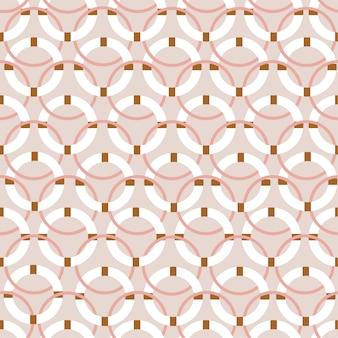 Roze pastelkleur van naadloze patroon van de cirkel het moderne stijl