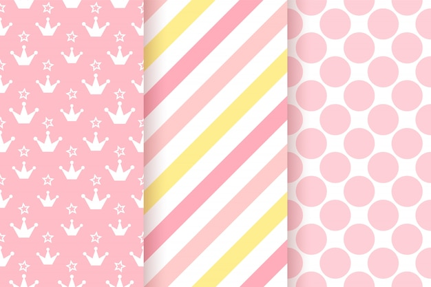 Roze patroon. baby shower naadloze patroon