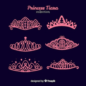 Roze prinses tiara collectie