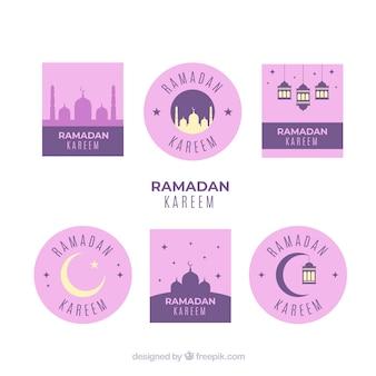 Roze ramadan labelverzameling