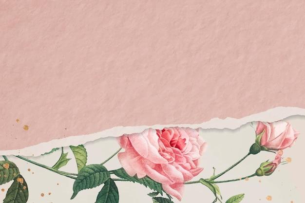 Roze roos frame ontwerp vector