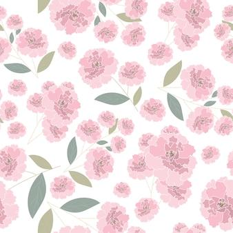 Roze roos naadloze patroon