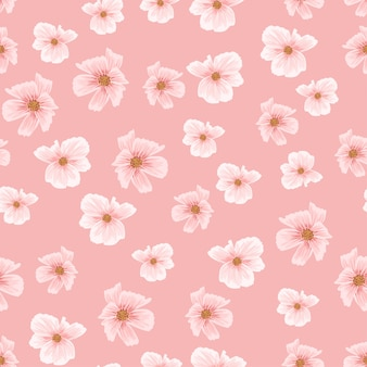 Roze sakura kersenbloesem naadloze patroon