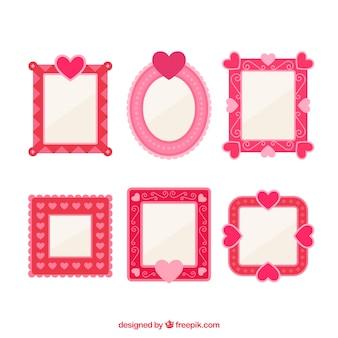 Roze schattige liefde frames