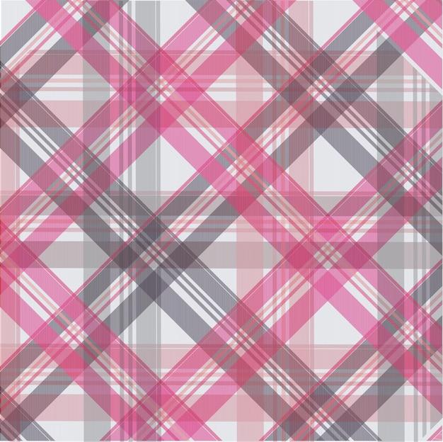 Roze scott-patroonachtergrond, stoffentextuur