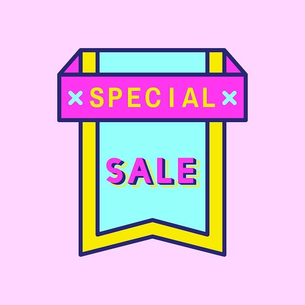 Roze shopping koop badgeontwerp