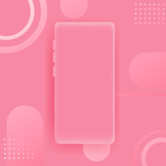 Roze smartphoneachtergrond