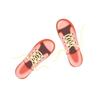 Roze sneakers bovenaanzicht