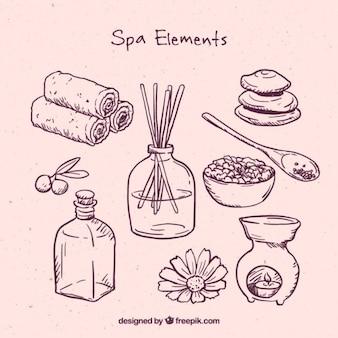 Roze spa elementen