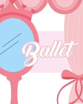 Roze spiegel kroon sieraden ballet decoratie