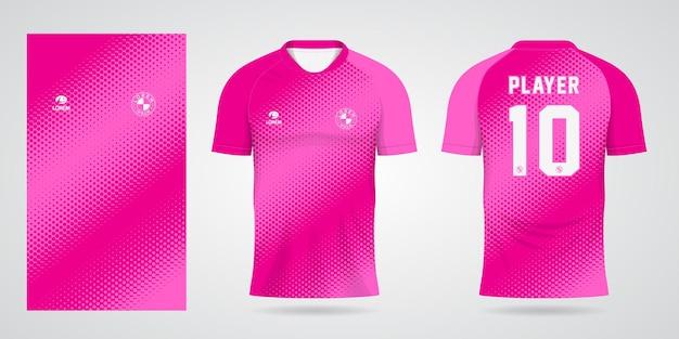 Roze sporttrui-sjabloon voor teamuniformen en voetbalt-shirtontwerp