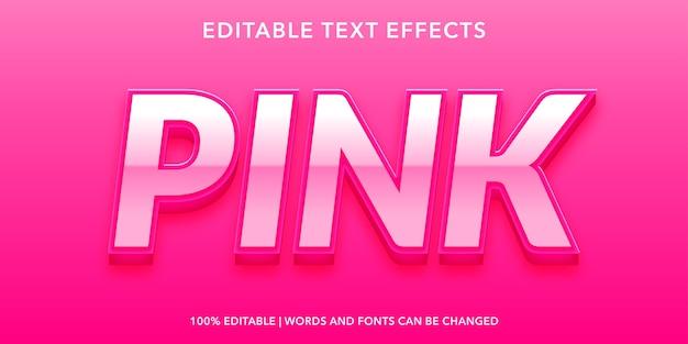 Roze tekst 3d-stijl bewerkbaar teksteffect