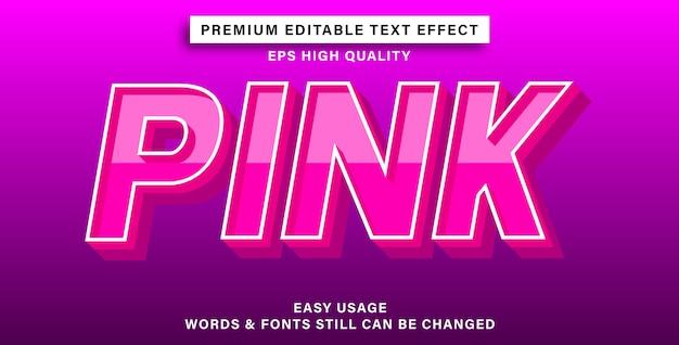 Roze teksteffectstijl
