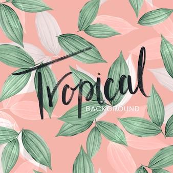 Roze tropische groene achtergrond