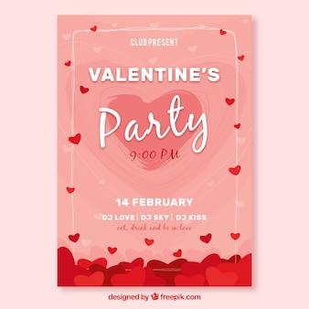 Roze valentijn dekking sjabloon