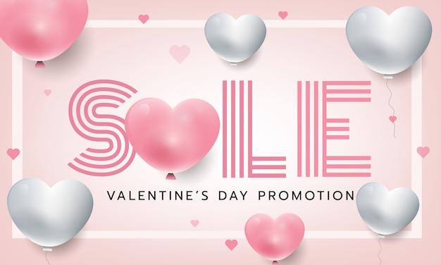 Roze verkoop brief valentines concept