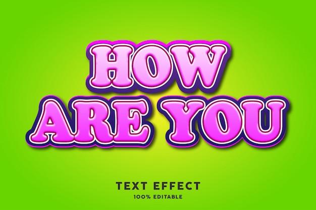 Roze vetgedrukt teksteffect