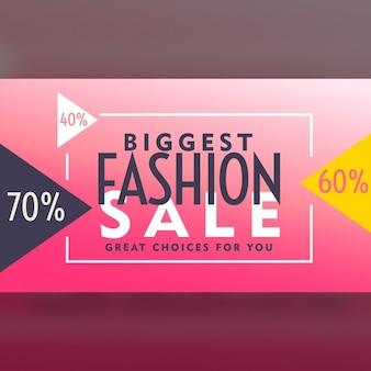 Roze voucher ontwerp voor mode te koop
