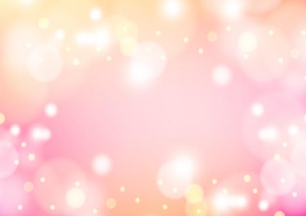 Roze winter achtergrond met bokeh kerstmis