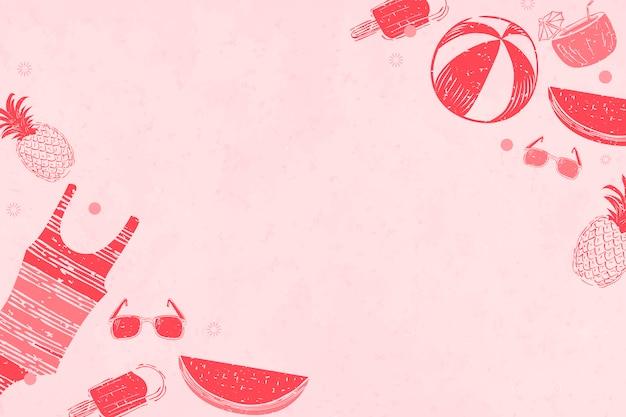 Roze zomer achtergrond